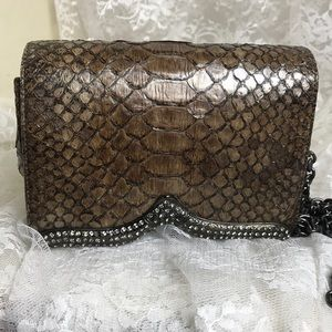 RODO Snakeskin Italian Leather Crossbody Purse